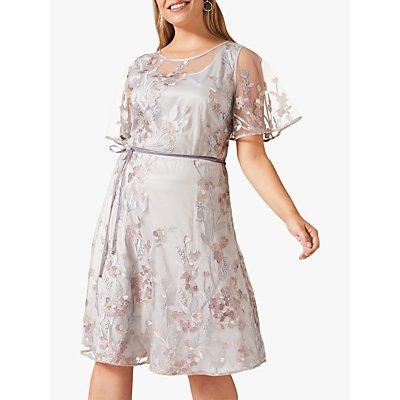 Studio 8 Kimi Floral Embroidered Dress, Blue/Multi