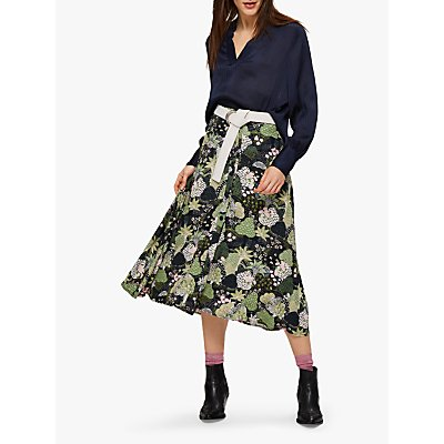 Selected Femme Marina Floral Print Midi Skirt, Multi