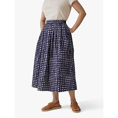 Toast Anni Print Poplin Skirt, Ink