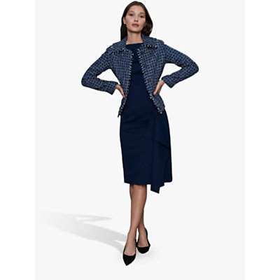 Winser London Metallic Tweed Jacket, Navy