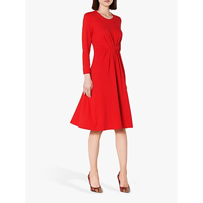 L.K.Bennett Luna Ruched Dress, Red