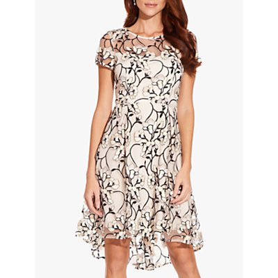 Adrianna Papell Graphic Radiance Dress, Blush Multi