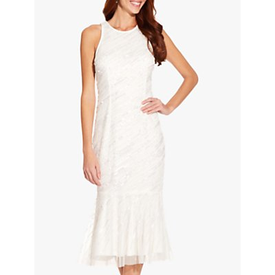 Adrianna Papell Beaded Cocktail Dress, Ivory