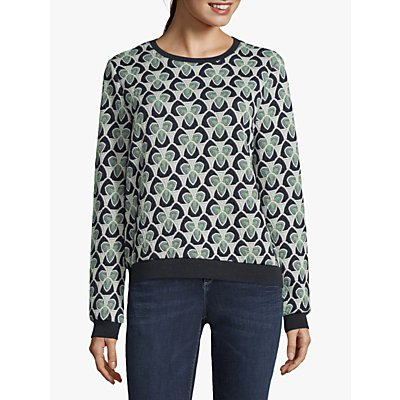 Betty & Co. Tapestry Jersey Top, Blue/Green