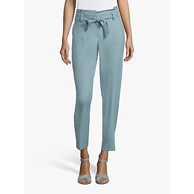 Betty & Co. Tie Waist Tailored Trousers, Arctic
