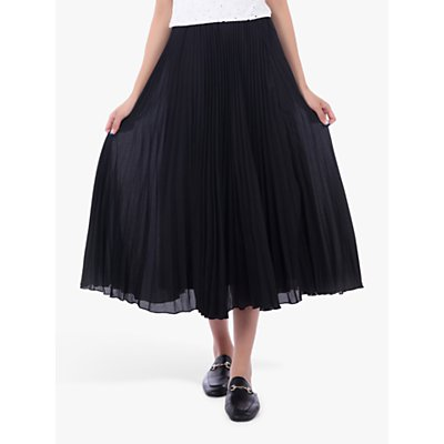 Jolie Moi Pleated Full Circle Midi Skirt