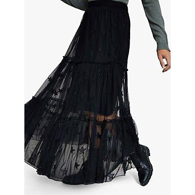 Harpenne Black Star Maxi Skirt