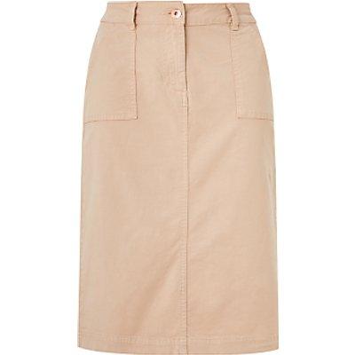 John Lewis & Partners Chino Midi Skirt, Natural