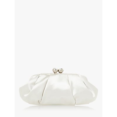 Dune Bridal Collection Breathtaking Satin Clutch Bag, Ivory