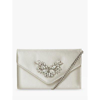 Dune Bridal Collection Besotted Envelope Clutch Bag, Ivory