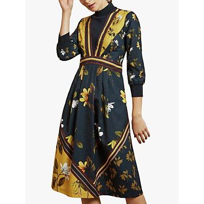 Ted Baker Juudyy High Neck Floral Dress, Multi