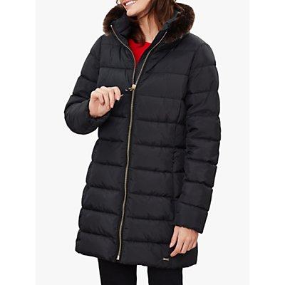 Joules Beaumont Faux Fur Padded Coat, Black