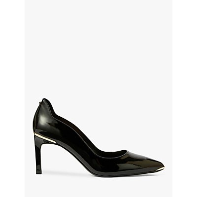 Ted Baker Eriina Stiletto Heel Leather Court Shoes, Black