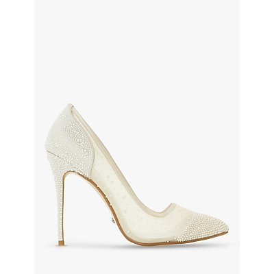 Dune Bridal Collection Brilliantes Crystal Embellished Court Shoes, Ivory