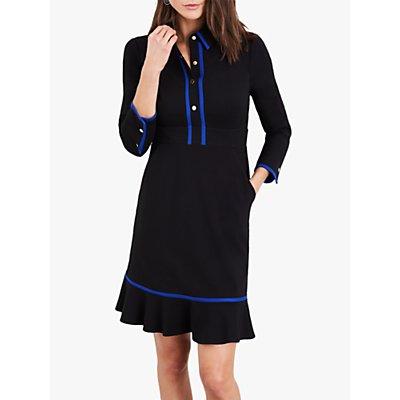 Damsel in a Dress Natalya Jersey Dress, Black/Blue