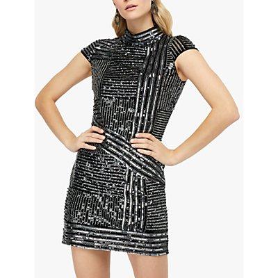 Monsoon Brienne Sequin Tunic Dress, Silver