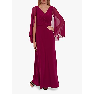 Gina Bacconi Piera Jersey Maxi Dress With Cape