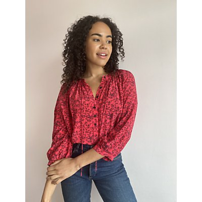 AND/OR Josie Floral Blouse, Red