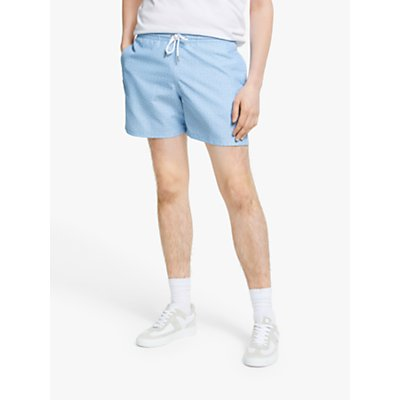 Maison Labiche Little Palm Tree Swim Shorts, Light Blue