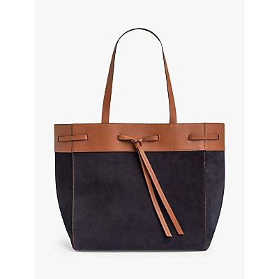 Gerard Darel Cabas Simone Leather East/West Tote Bag, Blue