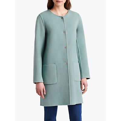 Gerard Darel Rosalia Reversible Collarless Wool Coat