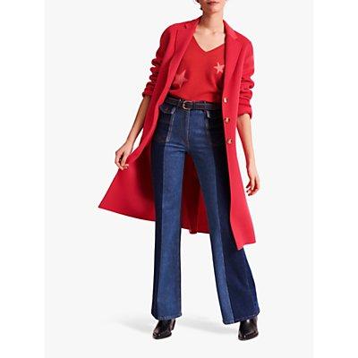 Gerard Darel Rosy Longline Wool Coat