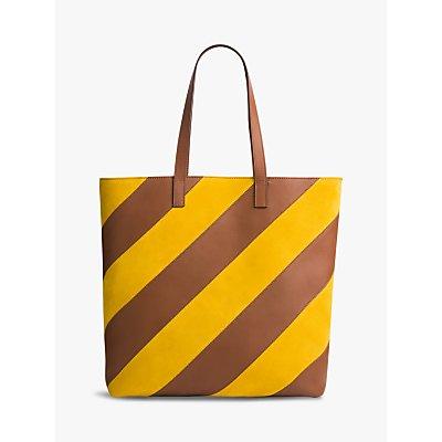 Gerard Darel Shop R Large Leather Shoulder Bag, Yellow
