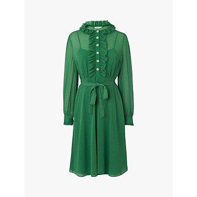 L.K.Bennett Honor Spot Print Dress, Green