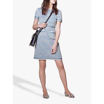 L.K.Bennett Sidney Tweed Shift Dress, Blue
