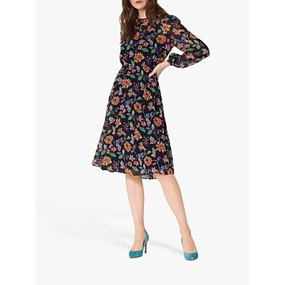 L.K.Bennett Evalina Floral Dress, Midnight
