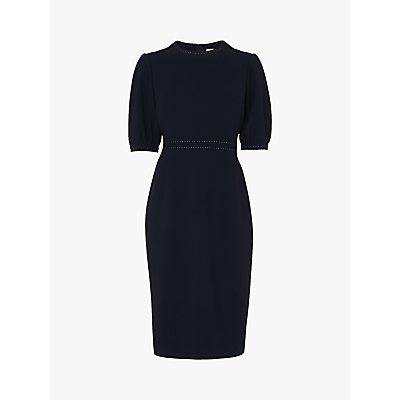 L.K.Bennett Wren Round Neck Dress, Black
