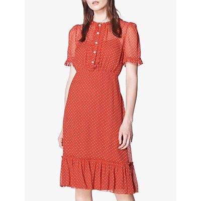 L.K.Bennett Malami Spot Print Silk Dress, Red