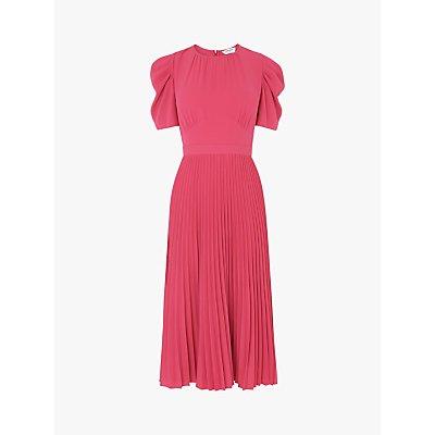 L.K.Bennett Avalon Crepe Pleated Dress, Pink