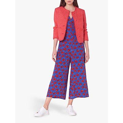 L.K.Bennett Bernice Tweed Jacket, Pink Candy