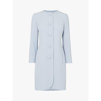 L.K.Bennett Rosamund Occasion Coat, Pale Blue