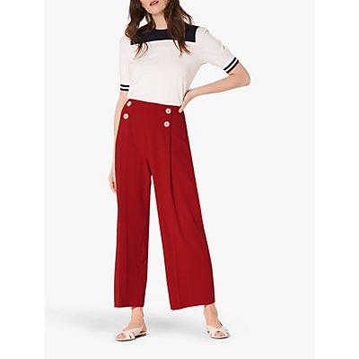 L.K.Bennett Parker Wide Legged Trousers, Red