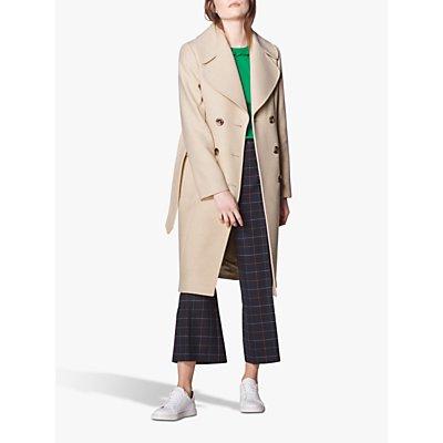 L.K.Bennett Sophie Wool Blend Trench Coat, Oyster