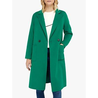 Monsoon Rachel Midi Coat, Green
