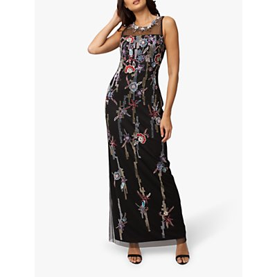 Raishma Evelyn Embellished Gown, Black/Multi
