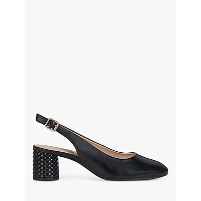 Geox Women's Ortensia Leather Slingback Court Shoes
