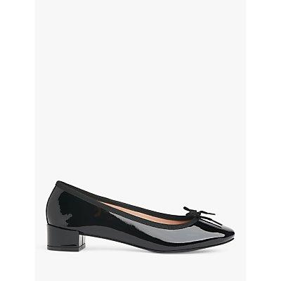 L.K.Bennett Preston Leather Ballerina Shoes, Black