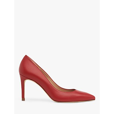 L.K.Bennett Floret Pointed Toe Court Shoes, Red Roca