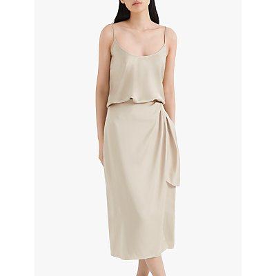 Club Monaco Midi Wrap Skirt, Cashew