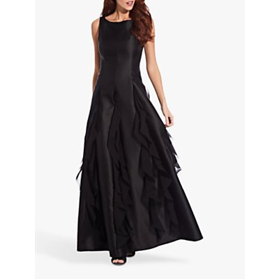 Adrianna Papell Mikado Chiffon Dress, Black