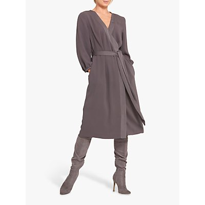 Helen McAlinden Una Wrap Dress, Grey
