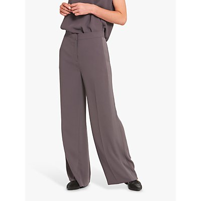 Helen McAlinden Aline Wide Leg Trousers, Grey