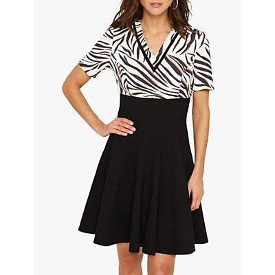 Damsel in a Dress Feden Zebra Dress, Black/Ivory