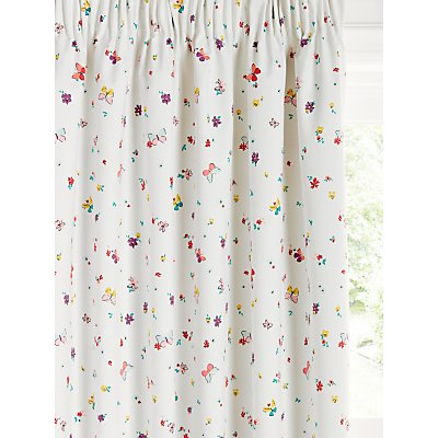 little home at John Lewis Butterflies Ditsy Print Pencil Pleat Children s Curtains  Multi - 5059139516888