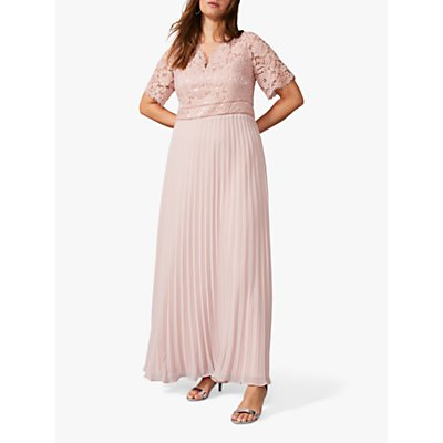 Studio 8 Ramona Lace Pleated Maxi Dress