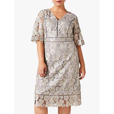 Studio 8 Ellis Floral Lace Dress, Grey/Pastel Blue